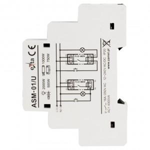 Zamel Exta ASM-01/U - Automat schodowy 12-230V AC/DC, Montaż na szynie TH - Podgląd zdjęcia nr 4