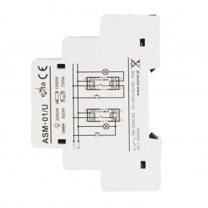 Zamel Exta ASM-01/U - Automat schodowy 12-230V AC/DC, Montaż na szynie TH - Podgląd zdjęcia nr 5