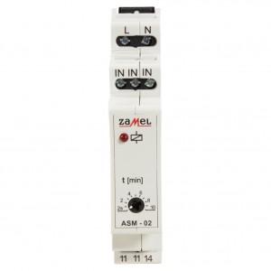 Zamel Exta ASM-02 - Automat schodowy z funkcją przeciwbllokady 230V AC, Montaż na szynie TH - Podgląd zdjęcia nr 2