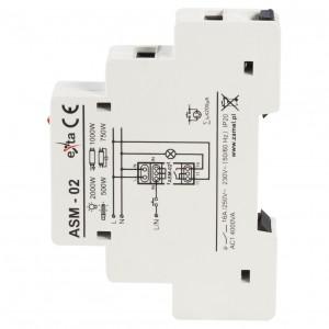 Zamel Exta ASM-02 - Automat schodowy z funkcją przeciwbllokady 230V AC, Montaż na szynie TH - Podgląd zdjęcia nr 4