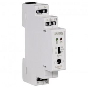 Zamel Exta ASM-03 - Automat schodowy z funkcją przeciwbllokady i opcją ręcznego załączania 230V AC, Montaż na szynie TH - Podgląd zdjęcia nr 3