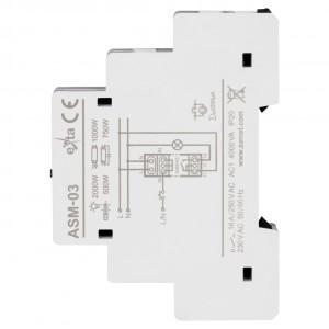 Zamel Exta ASM-03 - Automat schodowy z funkcją przeciwbllokady i opcją ręcznego załączania 230V AC, Montaż na szynie TH - Podgląd zdjęcia nr 4