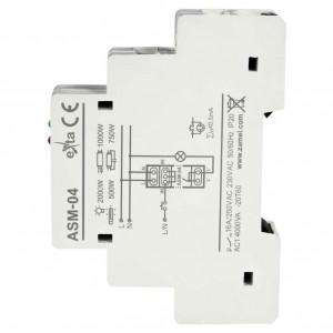 Zamel Exta ASM-04 - Automat schodowy z funkcją ogranicznika mocy 100W - 2kW 16A 230VAC 10s-10 min - Podgląd zdjęcia nr 2
