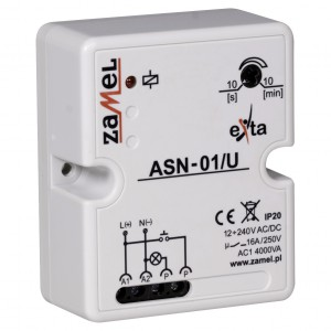 Zamel Exta ASN-01/U - Automat schodowy 12-230V AC/DC, Natynkowy IP20 - Podgląd zdjęcia nr 3