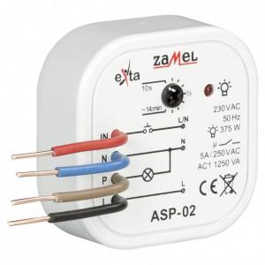 Zamel Exta ASP-02 - Automat schodowy z funkcją przeciwbllokady 230V AC, Montaż w puszcze p/t fi60 - Podgląd zdjęcia nr 3
