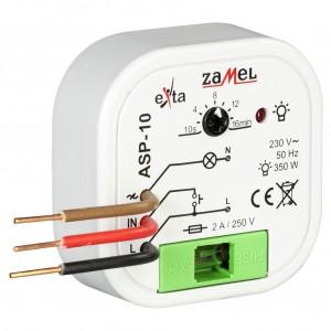 Zamel Exta ASP-10 - Automat schodowy z inteligentną z funkcją przeciwbllokady i płynną regulacją rozjasniania 230V AC, Montaż w puszcze p/t fi60 - Podgląd zdjęcia nr 3
