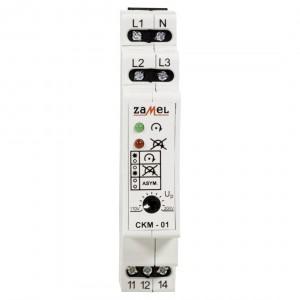 Zamel Exta CKM-01 - Czujnik zaniku napięcia fazowego, asymetrii lub złej kolejności faz, Montaż na szynie TH - Podgląd zdjęcia nr 2