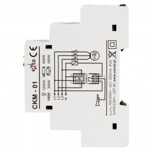 Zamel Exta CKM-01 - Czujnik zaniku napięcia fazowego, asymetrii lub złej kolejności faz, Montaż na szynie TH - Podgląd zdjęcia nr 4