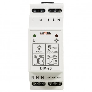 Zamel Exta DIM-20 - Ściemniacz z płynną regulacją 35-500W, Montaż na szynie TH - Podgląd zdjęcia nr 2