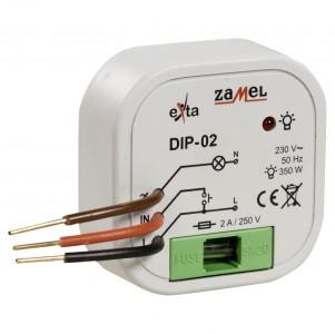Zamel Exta DIP-02 - Ściemniacz z płynną regulacją z pamięcią poziomu świecenia 15-350W, Montaż w puszcze p/t fi60 - Podgląd zdjęcia nr 3