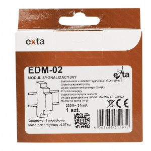 Zamel Exta EDM-02 - Sygnalizator akustyczny z podtrzymaniem alarmu i przyciskiem zwolnienia 230V AC - Podgląd zdjęcia nr 1