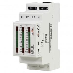 Zamel Exta LDM-30 - Wskaźnik napięcia sieci 3-fazowej typu LED (3x 11LED, 195-245V AC) - Podgląd zdjęcia nr 1