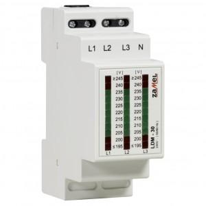 Zamel Exta LDM-30 - Wskaźnik napięcia sieci 3-fazowej typu LED (3x 11LED, 195-245V AC) - Podgląd zdjęcia nr 3