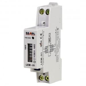 Zamel Exta LEM-01 - Analogowy, Jednofazowy licznik energii elektrycznej, Montaż na szynie TH - Podgląd zdjęcia nr 1