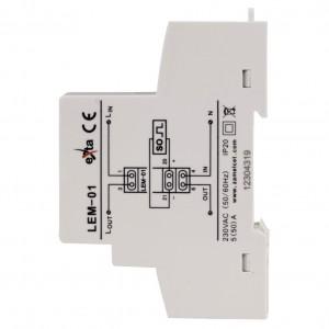 Zamel Exta LEM-01 - Analogowy, Jednofazowy licznik energii elektrycznej, Montaż na szynie TH - Podgląd zdjęcia nr 4