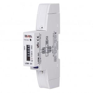 Zamel Exta LEM-01 - Analogowy, Jednofazowy licznik energii elektrycznej, Montaż na szynie TH - Podgląd zdjęcia nr 5