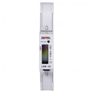 Zamel Exta LEM-02 - Cyfrowy, Jednofazowy licznik energii elektrycznej, Montaż na szynie TH - Podgląd zdjęcia nr 2