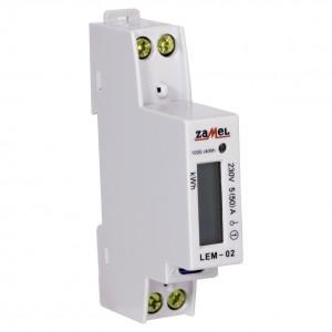 Zamel Exta LEM-02 - Cyfrowy, Jednofazowy licznik energii elektrycznej, Montaż na szynie TH - Podgląd zdjęcia nr 3