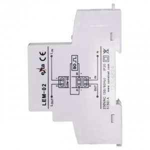 Zamel Exta LEM-02 - Cyfrowy, Jednofazowy licznik energii elektrycznej, Montaż na szynie TH - Podgląd zdjęcia nr 4