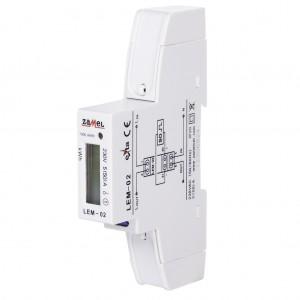 Zamel Exta LEM-02 - Cyfrowy, Jednofazowy licznik energii elektrycznej, Montaż na szynie TH - Podgląd zdjęcia nr 5