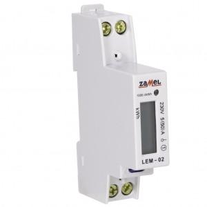 Zamel Exta LEM-02 - Cyfrowy, Jednofazowy licznik energii elektrycznej, Montaż na szynie TH - Podgląd zdjęcia nr 6