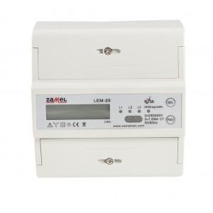 Zamel Exta LEM-20 - Cyfrowy, Trójfazowy licznik energii elektrycznej MODBUS RS485, Montaż na szynie TH - Podgląd zdjęcia nr 3