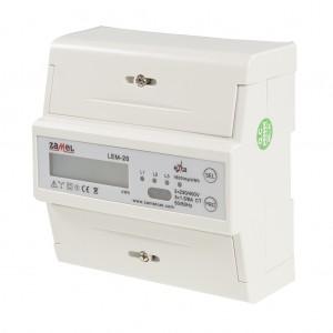 Zamel Exta LEM-20 - Cyfrowy, Trójfazowy licznik energii elektrycznej MODBUS RS485, Montaż na szynie TH - Podgląd zdjęcia nr 5