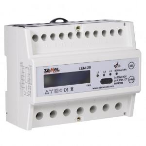 Zamel Exta LEM-20 - Cyfrowy, Trójfazowy licznik energii elektrycznej MODBUS RS485, Montaż na szynie TH - Podgląd zdjęcia nr 6