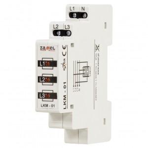 Zamel Exta LKM-01-10 - Wskaźnik zasilania - Kontroli faz typu LED w kolorze czerwonym (3-fazowy: L1, L2, L3) - Podgląd zdjęcia nr 1