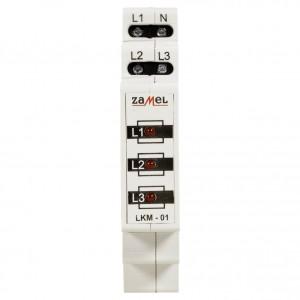 Zamel Exta LKM-01-10 - Wskaźnik zasilania - Kontroli faz typu LED w kolorze czerwonym (3-fazowy: L1, L2, L3) - Podgląd zdjęcia nr 2