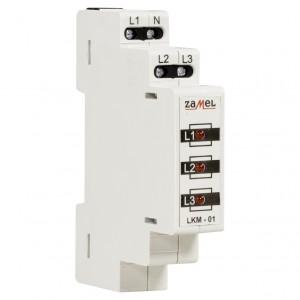 Zamel Exta LKM-01-10 - Wskaźnik zasilania - Kontroli faz typu LED w kolorze czerwonym (3-fazowy: L1, L2, L3) - Podgląd zdjęcia nr 3