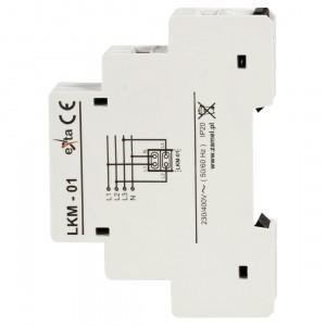Zamel Exta LKM-01-10 - Wskaźnik zasilania - Kontroli faz typu LED w kolorze czerwonym (3-fazowy: L1, L2, L3) - Podgląd zdjęcia nr 4