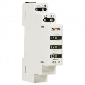 Zamel Exta LKM-01-20 - Wskaźnik zasilania - Kontroli faz typu LED w kolorze zielonym (3-fazowy: L1, L2, L3) - Podgląd zdjęcia nr 3