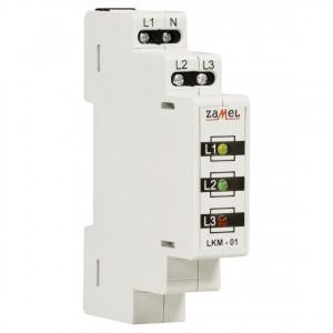Zamel Exta LKM-01-40 - Wskaźnik zasilania - Kontroli faz typu LED w kolorach: czerwonym, zielonym i żółtym (3-fazowy: L1, L2, L3) - Podgląd zdjęcia nr 3