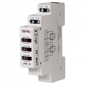 Zamel Exta LKM-02-10 - Wskaźnik zasilania - Kontroli faz typu LED w kolorze czerwonym (3-fazowy: L1, L2, L3) - Podgląd zdjęcia nr 1
