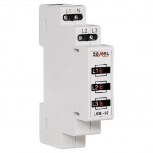 Zamel Exta LKM-02-10 - Wskaźnik zasilania - Kontroli faz typu LED w kolorze czerwonym (3-fazowy: L1, L2, L3) - Podgląd zdjęcia nr 3