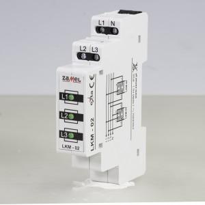 Zamel Exta LKM-02-20 - Wskaźnik zasilania - Kontroli faz typu LED w kolorze zielonym (3-fazowy: L1, L2, L3) - Podgląd zdjęcia nr 3