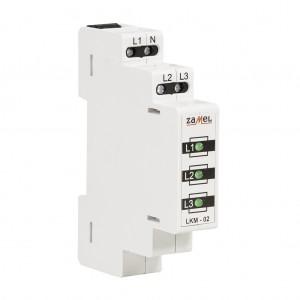 Zamel Exta LKM-02-20 - Wskaźnik zasilania - Kontroli faz typu LED w kolorze zielonym (3-fazowy: L1, L2, L3) - Podgląd zdjęcia nr 4