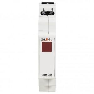 Zamel Exta LKM-03-10 - Wskaźnik zasilania - Kontroli fazy typu LED w kolorze czerwonym (1-fazowy: L1) - Podgląd zdjęcia nr 2
