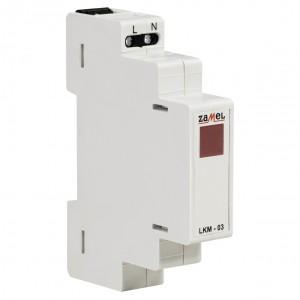 Zamel Exta LKM-03-10 - Wskaźnik zasilania - Kontroli fazy typu LED w kolorze czerwonym (1-fazowy: L1) - Podgląd zdjęcia nr 3