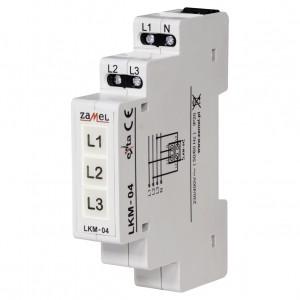 Zamel Exta LKM-04-40 - Wskaźnik zasilania - Kontroli faz typu LED w kolorach: czerwonym, zielonym i żółtym (3-fazowy: L1, L2, L3) - Podgląd zdjęcia nr 1