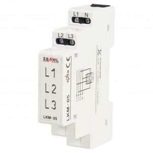 Zamel Exta LKM-05-40 - Wskaźnik zasilania - Kontroli faz typu LED w kolorach: czerwonym, zielonym i żółtym (3-fazowy: L1, L2, L3) - Podgląd zdjęcia nr 1