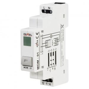 Zamel Exta MOM-01-20 - Przycisk monostabilny ze wskaźnikiem LED w kolorze zielonym - Podgląd zdjęcia nr 1