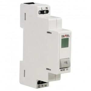 Zamel Exta MOM-01-20 - Przycisk monostabilny ze wskaźnikiem LED w kolorze zielonym - Podgląd zdjęcia nr 3