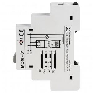 Zamel Exta MOM-01-30 - Przycisk monostabilny ze wskaźnikiem LED w kolorze żółtym - Podgląd zdjęcia nr 4