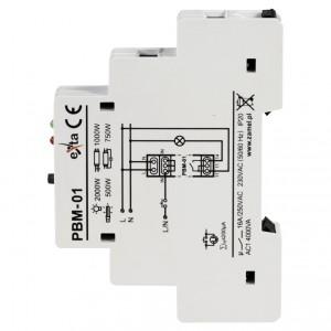 Zamel Exta PBM-01 - Przekaźnik bistabilny 230V AC, Montaż na szynie TH - Podgląd zdjęcia nr 4