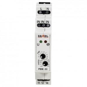 Zamel Exta PBM-03 - Przekaźnik bistabilny z nastawą czasu pracy 230V AC, Montaż na szynie TH (Zakres nastawy czasu pracy 0,1s-10dni) - Podgląd zdjęcia nr 2