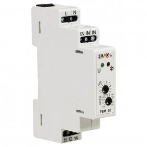 Zamel Exta PBM-03 - Przekaźnik bistabilny z nastawą czasu pracy 230V AC, Montaż na szynie TH (Zakres nastawy czasu pracy 0,1s-10dni) - Podgląd zdjęcia nr 3