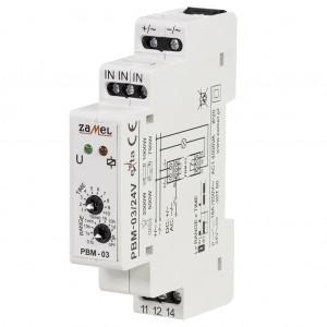 Zamel Exta PBM-03/24V - Przekaźnik bistabilny z nastawą czasu pracy 24V AC/DC, Montaż na szynie TH, Zakres nastawy czasu pracy 0,1s-10dni - Podgląd zdjęcia nr 3