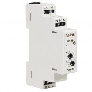 Zamel Exta PBM-03/24V - Przekaźnik bistabilny z nastawą czasu pracy 24V AC/DC, Montaż na szynie TH, Zakres nastawy czasu pracy 0,1s-10dni - Podgląd zdjęcia nr 4